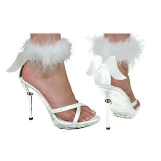 Adult White High Heel Angel Costume Shoes   Angel Costume Accessories