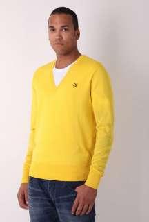 Yellow Merino Wool V Neck Knit by Lyle & Scott   Yellow   Buy Knitwear