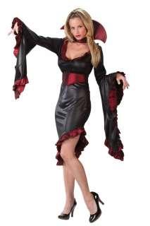 Adult Sexy Ruffle Vampiress Costume with Collar   Sexy Vampire