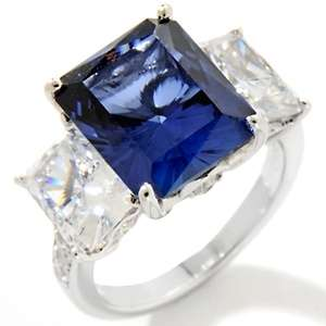 Jean Dousset 7.78ct Absolute™ and Created Blue Sapphire Ring