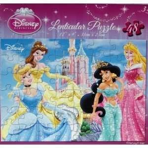 Disney Princess 48 Piece Lenticular 3D Puzzle   Cinderella, Belle