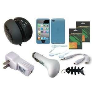 4G 4th Generation 8GB 16GB 32GB Blue Soft Skin Case Cover + USB Car