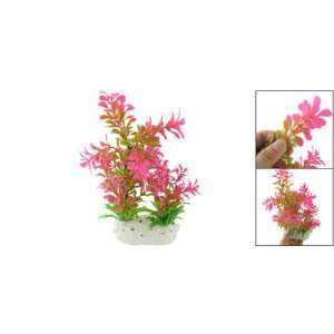 Como Magenta Plastic Fish Tank Grass Aquarium Plant Ornament Decor