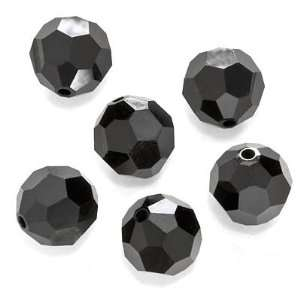 ELEMENTS Crystal #5000 10mm Round Jet Beads (6) Arts, Crafts & Sewing