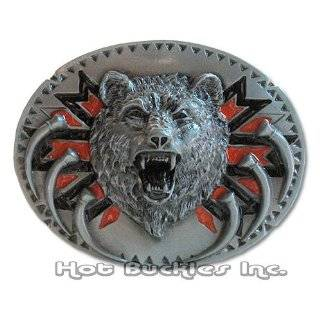GRIZZLY BEAR Belt Buckle Wildlife Western Nature: Clothing