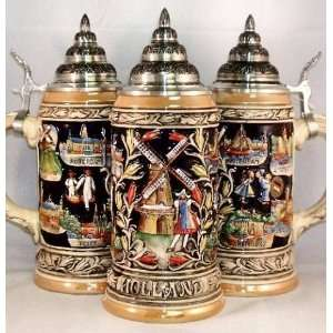 Holland Panorama German Beer Stein 0.75 Liter Kitchen