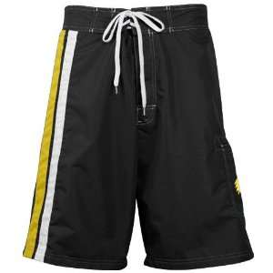 Iowa Hawkeyes Black Team Logo Board Shorts: Sports & Outdoors