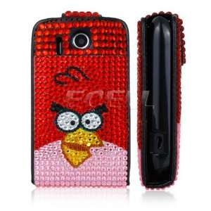 PROTECTIVE LEATHER BLING FLIP CASE COVER FOR HTC EXPLORER Electronics