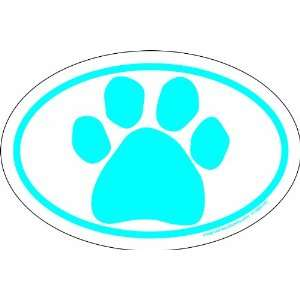Imagine This 4 Inch by 6 Inch Car Magnet Oval, Blue Paw