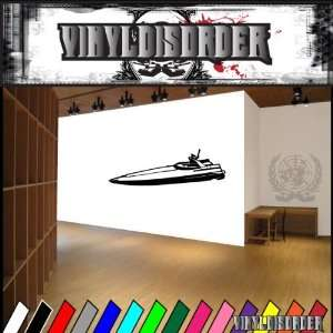Speed Boat Long Boats Large Vinyl Decal Stickers 006