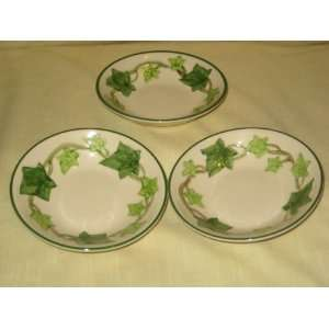 Vintage California Pottery Franciscan Ivy 5 1/4 x 2 Berry Bowls USA
