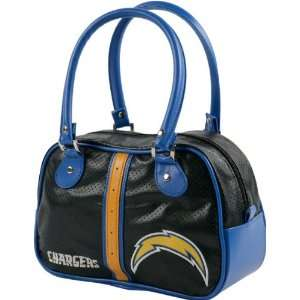 San Diego Chargers Black Bowler Bag Purse