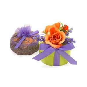 Spring Favors BloemBox Apricot Rose Box with Lavender