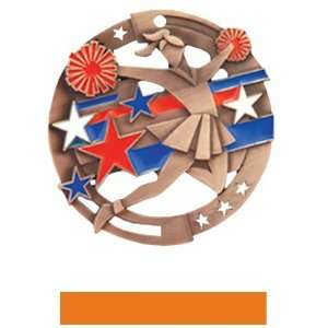 Cheer Color Medals M 545CH BRONZE MEDAL / ORANGE RIBBON 2