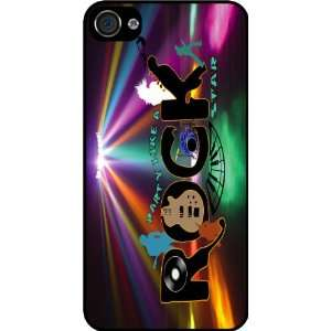 Rock Star Silhouette Rubber Black iphone Case (with bumper) Cover