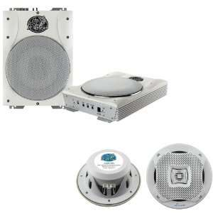 Amplified Marine/Waterproof Subwoofer System   AQ5CXW 400 Watts 5.25