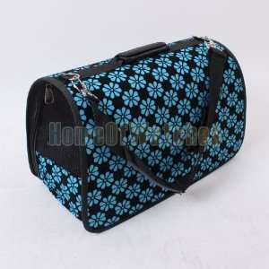 Blue Flower Pet Dog Cat Travel Carrier PORTABLE Pet Carrier