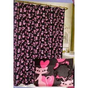 Cats & Hearts Fabris Shower Curtain