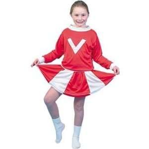 costumechest Cheerleader Fancy Dress Costume   Red/White