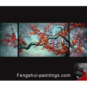 Cherry Blossom Painting Chinese Feng Shui Flower Painting