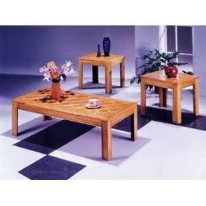 3 PCS Oak Finish Coffee/End Table Set Item # A02168