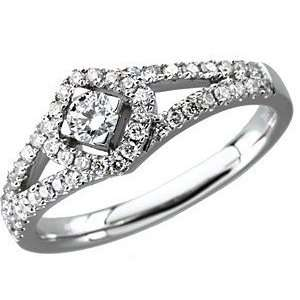 50 Carat Total Weight Diamond Ring set in 14 kt White Gold(5) Jewelry