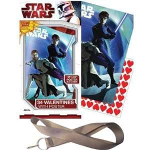 Disney STAR WARS School Valentines Cards  Lanyard and Poster Included