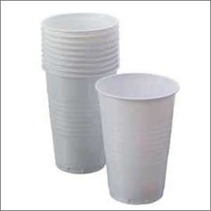 100 white plastic disposable cups [Kitchen & Home]  Home