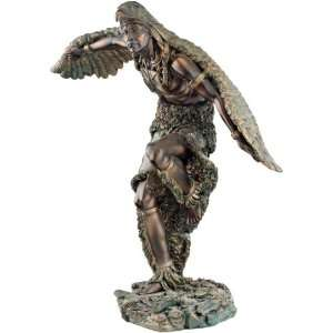 American Bronze Eagle Dancer Sculpture Statue Figurine Home & Kitchen