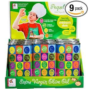 Peque Oliva Extra Virgin Olive Oil Just For Kids, 8.5 Ounce Cans (Pack