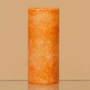 Orange Battery Operated Pillar LED Flicker Candle