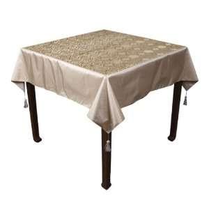 EXP Handmade Silky Floral Design 55 Tablecloth
