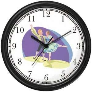 Couple Folk Dancers   Dancing Wall Clock by WatchBuddy