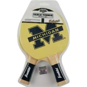 Michigan Wolverines Table Tennis Paddle Set