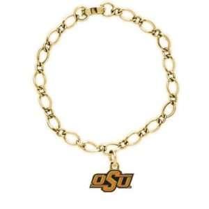 Oklahoma Sooners Official Logo Gold Charm Bracelet
