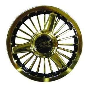 8 Tri Gold Turbine Wheel Cover with Three Spokes Automotive