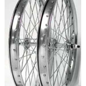 20x2.125, Front, Heavy Duty, Chrome, Steel, Wheel