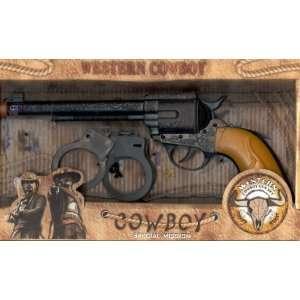 Deluxe Cowboy Toy Gun Set w/ Bonus Handcuffs   Lights up too  Toys