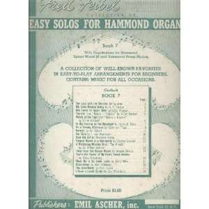 Easy Solos for Hammond Organ   Book 7   With Registrations for Hammond
