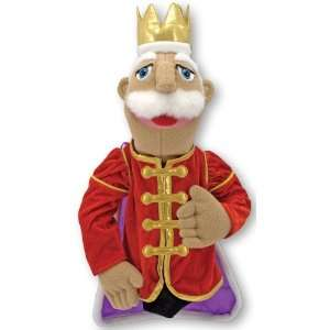 Set of 4 Plush Hand Puppets King Queen Princess Knight By Melissa and