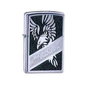 Zippo Harley Davidson Eagle Lighter High Polish Chrome