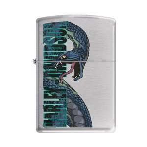 Zippo Harley Davidson Motorcycles Logo Brushed Chrome Lighter, 5840