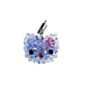 Swarovski Crystal Cell Phone Charm Hello Kitty Blue