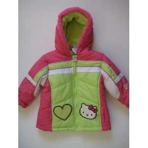 Hello Kitty Infants Girl Puffer Jacket Hoodie; Size 2T OR 3T; Color