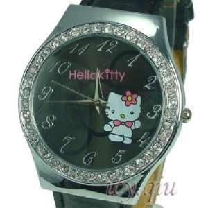 Hello Kitty Black Bow Quartz Leather Watch Everything
