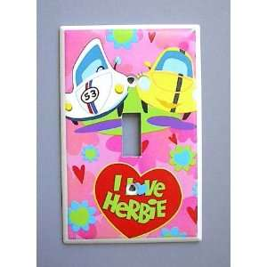 Herbie the Love Bug VW Beetle Single Switch Plate