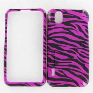 LG LS855 (Marquee) Zebra on Hot Pink Protective Case Cell