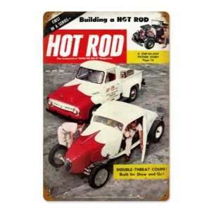 Hot Rod Magazine Cover 1954 Vintage Metal Sign