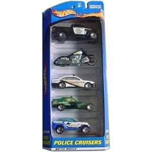 Hot Wheels Police Cruisers 5 Car Gift Pack   Contains 5 1