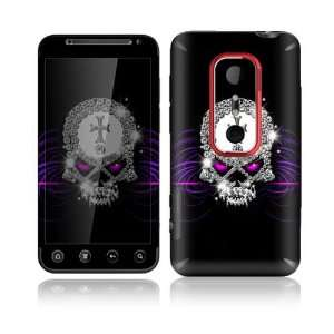 Bling Skull Design Decorative Skin Cover Decal Sticker for HTC Evo